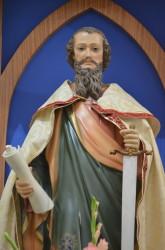 Imagem de S. Pedro na igreja matriz