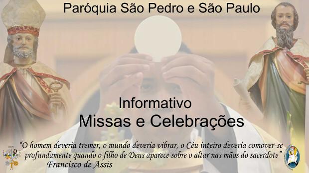 Informativo Missas e Celebrações