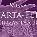 Participe da Missa de Quarta de Cinzas