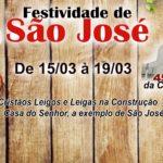 Programação da festividade de São José 2018