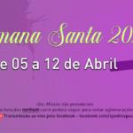 Programação da Semana Santa 2020